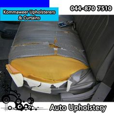 Are your car seats looking a little old and torn? Contact Kommaweer Upholsterers & Curtains, the professionals in all vehicle and furniture upholstery and let us get your seats looking brand new. #upholstery #autorepair #reupholstery