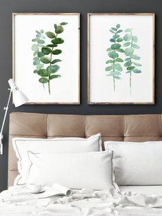 Eucalyptus Painting set of 2 Botanical Art Prints