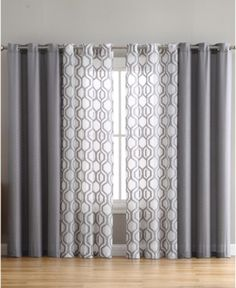 Auckland Window Panel - Grey curtains VCNY Home Auckland Living Room Decor Curtains, Home Curtains, Grey Curtains, Bedroom Decor, Window Treatments Living Room Curtains, Curtain Ideas For Living Room, Two Tone Curtains, Grey And White Curtains, Unique Window Treatments