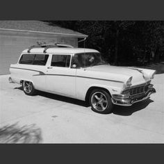 '56 Ford Ranch Wagon. Say what you want about Fords, this 3-speed manual V-8 served our family for 12 years without any major problems.