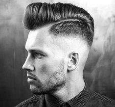 Textured Pompadour with Tapered Mid Fade