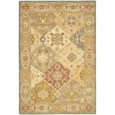 Safavieh Handmade Antiquities Bakhtieri Multi/ Beige Wool Rug (4' x 6') ... have this maybe for the den