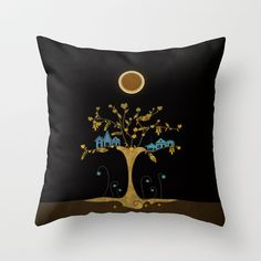 I'm living in this tree Throw Pillow by Viviana González - $20.00