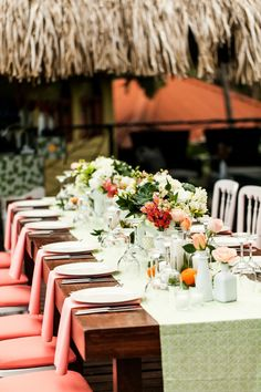 Costa Rica Citrus Inspired Wedding at Casa de las Brisas in Manuel Antonio, Costa Rica.  Wedding Planner: Tropical Occasions  Photographer: A Brit and A Blonde