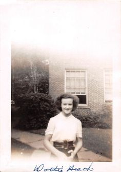 Photograph Snapshot Vintage Black and White Teen Girl Frizzy Hair 1950'S | eBay