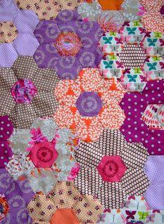 Flower Hexagons Quilt