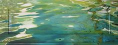 Water op paneel II, Acryl op houten paneel. 1.38 X 52 cm. #artwork #painting #water #art #kunst #schilderij