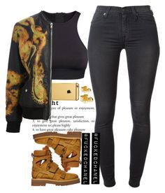 """""""• Hood by air •"""" by fuckedchanel ❤ liked on Polyvore featuring Goldgenie, H&M, 7 For All Mankind and Givenchy"""