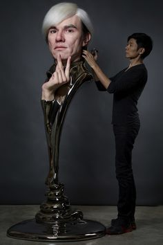 Hyper Realistic Sculptures of Andy Warhol |    Der in Los Angeles lebende Künstler Kazuhiro Tsuji ist in Hollywood ein gefragter Mann in Sachen Special-Effects Make-up.