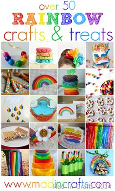 Rainbow Treats and Crafts - Mad in Crafts