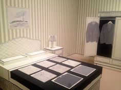 A bedroom made of paper and ink. Isn't it just great?