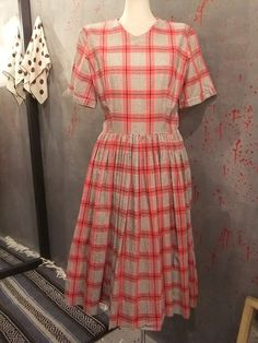 """CHECK ONE-PIECE  1960's """"VINTAGE"""""""
