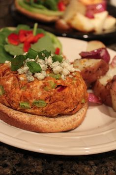 Buffalo Chicken Burgers-on tonight's menu