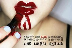 Against animal testing