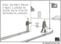"""Hand auf's ♥! Wie kommen Sie darauf einen Knopf zu drücken, der sagt: """"Sie sind eine Person, der ich vertraue, und ich möchte Sie zu meinem Netzwerk auf #LinkedIn einladen"""" …?"""