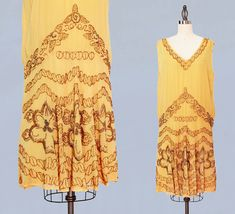 1920s Dress / 20s Flapper Dress BEADED Silk by GuermantesVintage