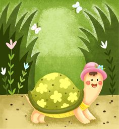 children book, Illustration,tortoise