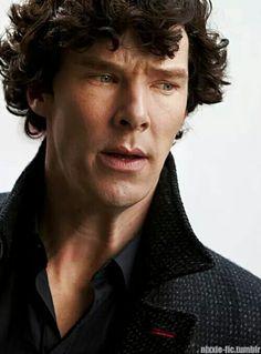 Sherl<3ck .. Gosh! The nose crinkle .. Curls .. Gaze .. #Breathtaking…
