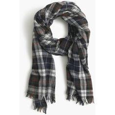 J.Crew Tartan Plaid Scarf ($86) ❤ liked on Polyvore featuring accessories, scarves, j.crew, j crew scarves, tartan plaid shawl, wool scarves и plaid scarves
