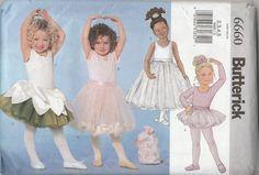 Butterick 6660 Children's / Girls' Leotard, Skirt, Bag & Ponytail Holder  Size (2-5)  UNCUT by ThePatternShopp on Etsy