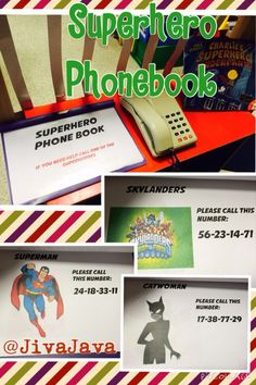 ) - focus was on numbers so children had to read the numbers and use the phone to dial the superhero of choice Maths Eyfs, Eyfs Classroom, Eyfs Activities, Nursery Activities, Activities For Boys, Numeracy, Classroom Ideas, Superhero Writing, Superhero Preschool