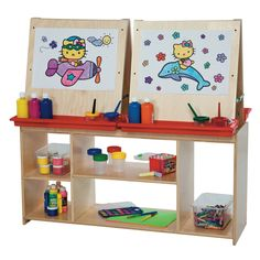 Wood Designs Childrens Art Center For Four - Natural - WD19300