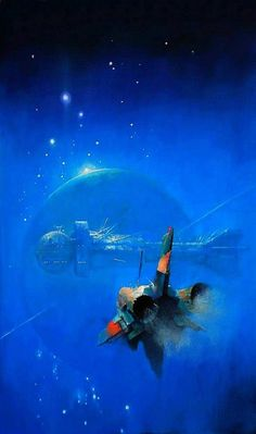 John Harris born 1948 in London, England is a British painter and illustrator, best known for working in the science fiction genre. His paintings have been used on book covers for many science fiction. Arte Sci Fi, Space Fantasy, Sci Fi Fantasy, Concept Ships, Concept Art, Interstellar, Art Pulp, Science Fiction Kunst, Science Art