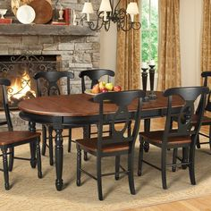 A-America British Isles Oval Dining Table - BRI