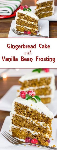 Gingerbread Cake with Vanilla Bean Frosting