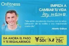 Alberto Gainza, uno de nuestros socios con problemas de rodilla te cuenta cómo ha mejorado su #salud y #bienestar gracias a los entrenamientos en el gimnasio Onfitness.