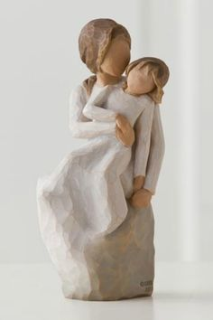 """This lovely resin figure of a mother and daughter sharing a lighthearted moment together is the perfect gift for a mother, grandmother, or even a sister. Pair with other Willow Tree figurines to make a grouping that fits your family! This figurine measures 6"""".   Laughing Mother & Daughter  by Willow Tree by Demdaco . Home & Gifts - Gifts - Gifts by Occasion - Just Because Home & Gifts - Gifts For... - Gifts for host / hostess Home & Gifts - Gifts - Gifts by Occasion - Entertaining & New Home…"""
