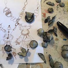 julie haymaker thompsom: New shrink plastic necklace