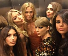 Taylor Swift and her #GirlSquad Take an Epic Elevator Ride at the 2015 VMAs from InStyle.com