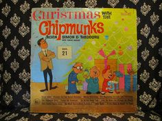 Christmas with the Chipmunks Record LP Album