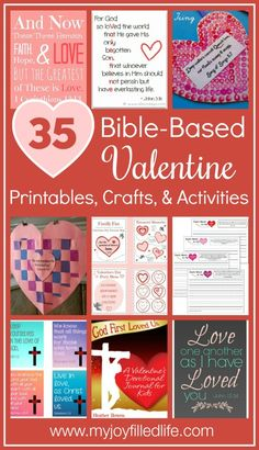 35 Bible Based Valentine Printables Crafts and Activities