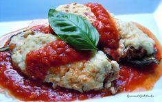 Gourmet Girl Cooks: Stuffed Italian Style Eggplant Boats