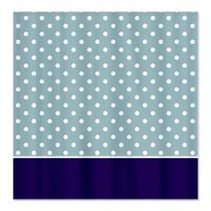 Light Blue w/White Dots 2 Shower Curtain > White Dots > MarloDee Designs Shower Curtains