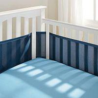 Breathable Baby Mesh Crib Liner - True Navy