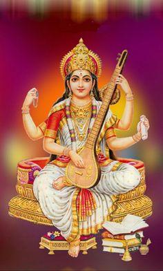 Sarswati devi 1087 Shiva Hindu, Hindu Deities, Krishna Art, Hindu Art, Saraswati Goddess, Goddess Lakshmi, Saraswati Mata, Lord Saraswati, Lord Shiva