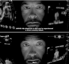 I love this so much thankyou marvel. It shows that anxiety can happen to anyone, even heroes, so maybe I'll be okay :) Marvel Tony Stark, Iron Man Tony Stark, Marvel Funny, Marvel Dc Comics, Marvel Avengers, Avengers Memes, Marvel Memes, Marvel Quotes, Loki Quotes
