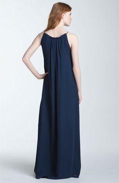 Vince Trapeze Silk Maxi Dress