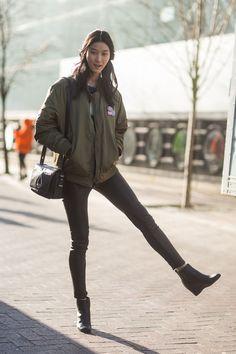 Ji Hye Park London Fashion Week autumn winter 2014-15 #LFW #StreetStyle