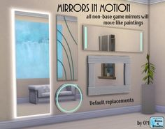 Mirrors in Motion by OM at Sims 4 Studio via Sims 4 Updates