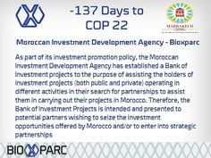 Follow our countdown to #cop22 #Marrakech #Bioxparc #biotechnology #medtech #bioscience #Morocco