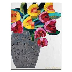 Artist Lane 'Tulips 3 ' by Anna Blatman Canvas Print Wall Art