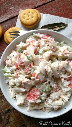 Seafood Salad from South Your Mouth. Just remember that leftovers only last a day or so.