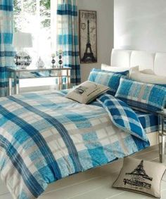 Venezia Chcek Duvet Covers, Quilt Covers and Bedding Sets by Gaveno Cavailia. Double - One duvet cover cm x 200 cm) and two pillow cases cm x 75 cm). King - One duvet cover cm x 220 cm) and two pillow cases cm x 75 cm). Teal Bedding Sets, Matching Bedding And Curtains, Luxury Bedding Sets, Duvet Sets, Linen Bedding, Bed Linens, Modern Bedding, Gold Bedding, White Bedding