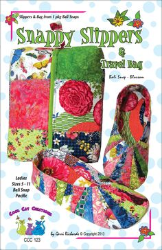 Cool Cats and Quilts: Cool Cat Creations new pattern, Snappy Slippers & Travel Bag