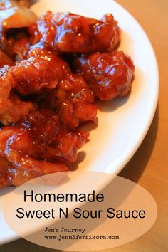 Homemade Sweet N Sour Sauce- No more store bought sauce for you! Homemade Sweet N Sour Sauce- No more store bought sauce for you! Sauce Recipes, Pork Recipes, Asian Recipes, Chicken Recipes, Cooking Recipes, Ethnic Recipes, Recipies, Cooking Sauces, Asian Foods