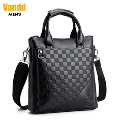 Aliexpress.com : Buy Vandd Men's Black PU Leather Plaid Embossing Vertical Tote Handbag Shoulder Messenger Bag For Travel Business Daily from Reliable men shoulder bag suppliers on Vandd Men. $45.00